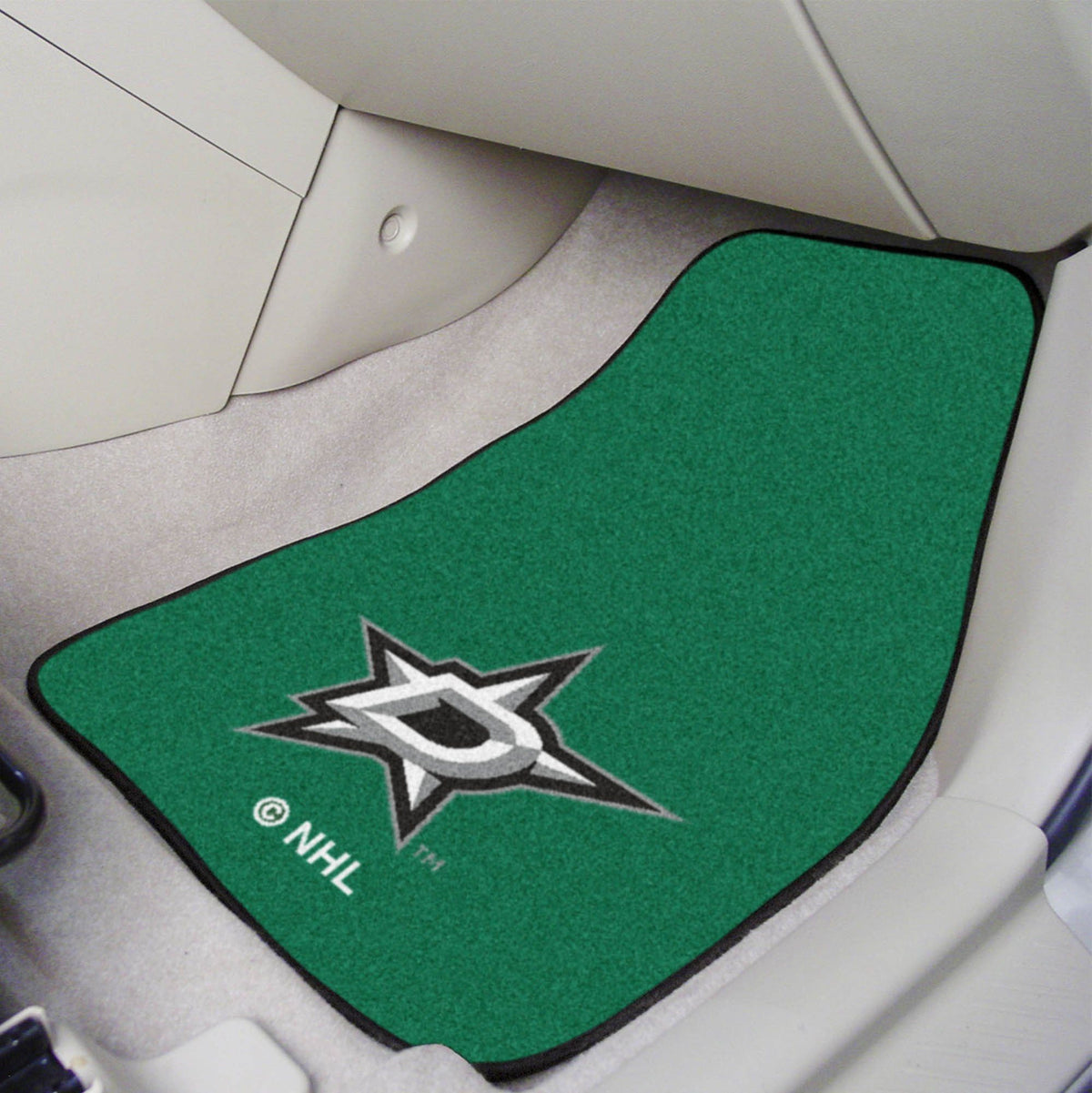 NHL - Carpet Car Mat, 2-Piece Set NHL Mats, Front Car Mats, 2-pc Carpet Car Mat Set, NHL, Auto Fan Mats Dallas Stars