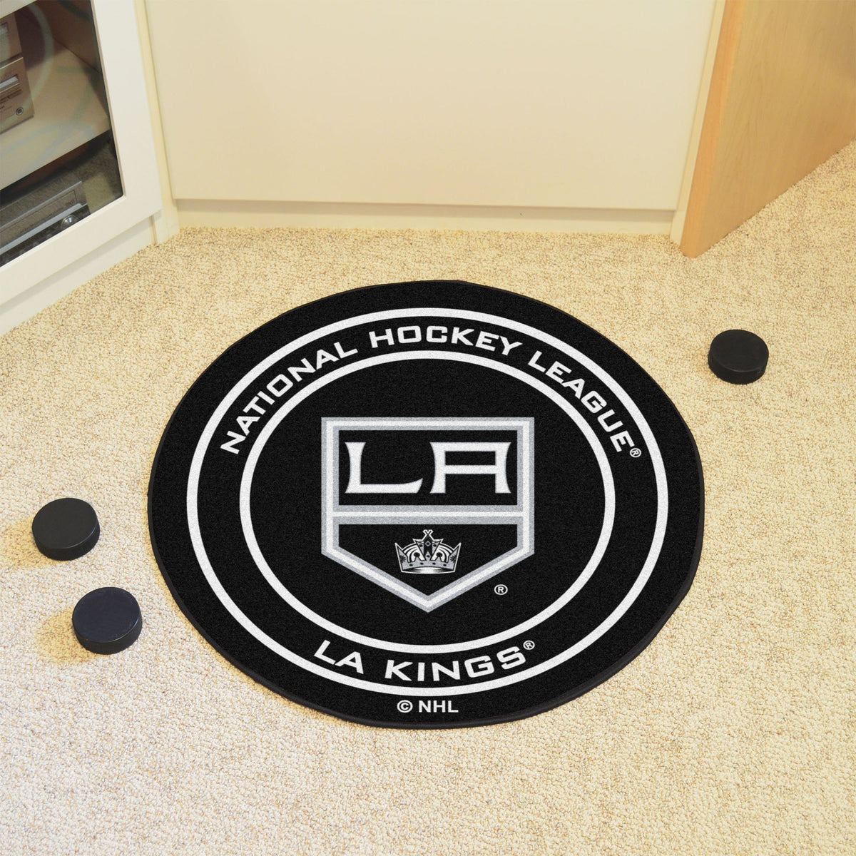 NHL Hockey Puck Mat NHL Hockey Puck Mat Fan Mats Los Angeles Kings