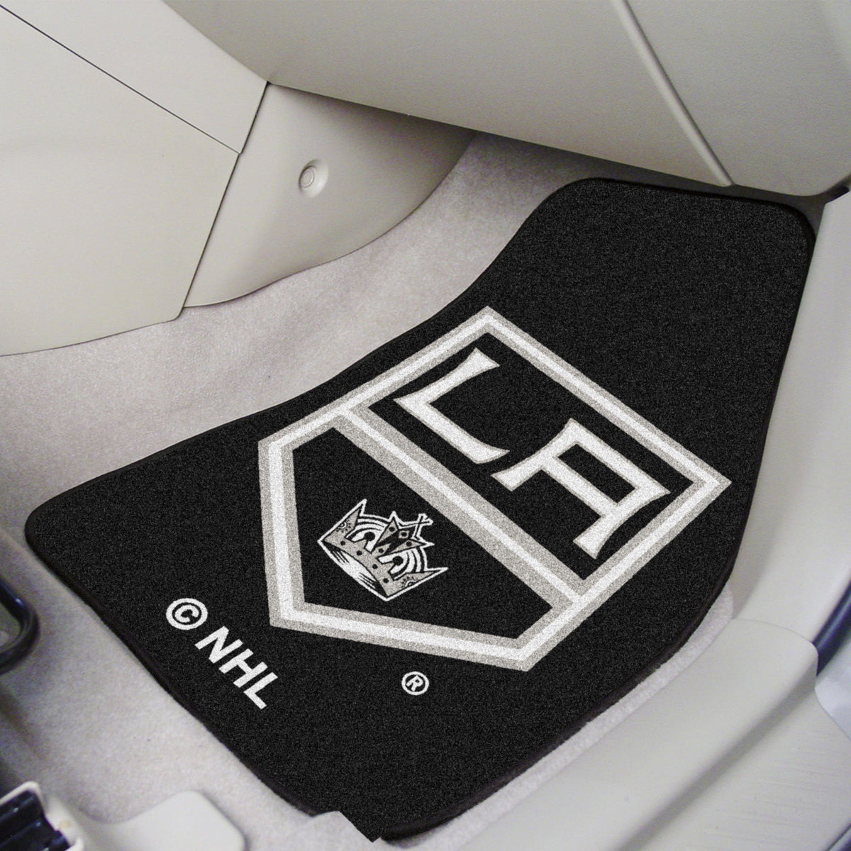 NHL - Carpet Car Mat, 2-Piece Set NHL Mats, Front Car Mats, 2-pc Carpet Car Mat Set, NHL, Auto Fan Mats Los Angeles Kings