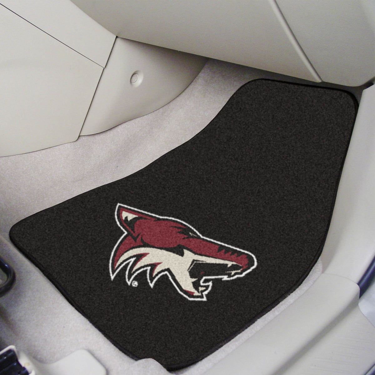 NHL - Carpet Car Mat, 2-Piece Set NHL Mats, Front Car Mats, 2-pc Carpet Car Mat Set, NHL, Auto Fan Mats Arizona Coyotes