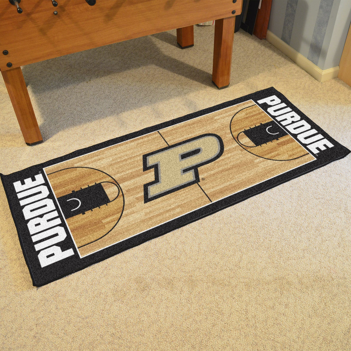 Collegiate - NCAA Basketball Runner Collegiate Mats, Rectangular Mats, NCAA Basketball Runner, Collegiate, Home Fan Mats Purdue