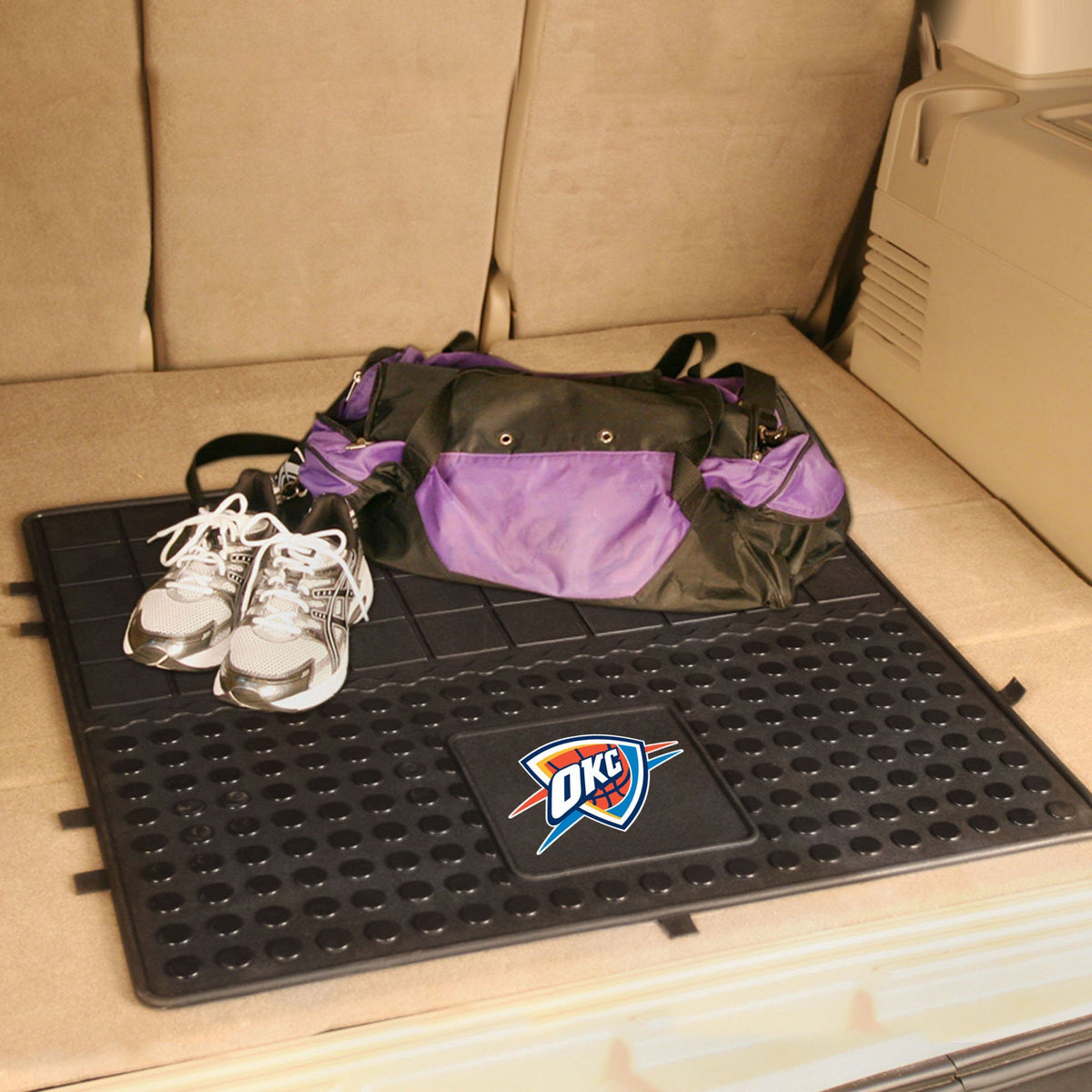 NBA - Heavy Duty Vinyl Cargo Mat NBA Mats, Trunk Mats, Heavy Duty Vinyl Cargo Mat, NBA, Auto Fan Mats Oklahoma City Thunder