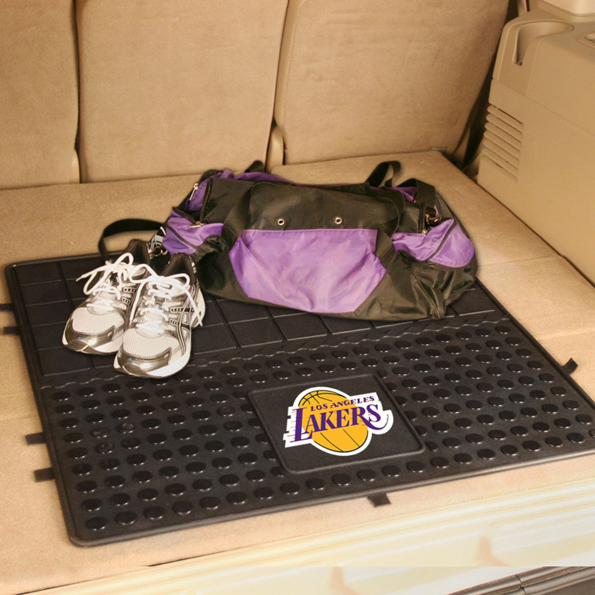 NBA - Heavy Duty Vinyl Cargo Mat NBA Mats, Trunk Mats, Heavy Duty Vinyl Cargo Mat, NBA, Auto Fan Mats Los Angeles Lakers