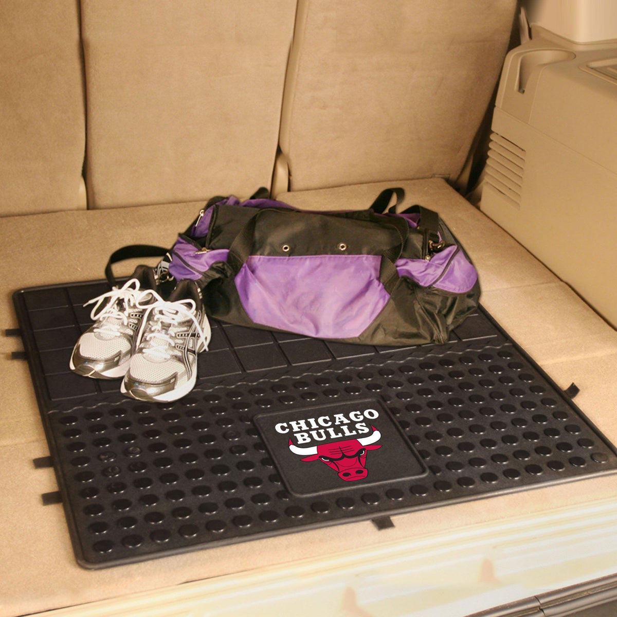 NBA - Heavy Duty Vinyl Cargo Mat NBA Mats, Trunk Mats, Heavy Duty Vinyl Cargo Mat, NBA, Auto Fan Mats Chicago Bulls