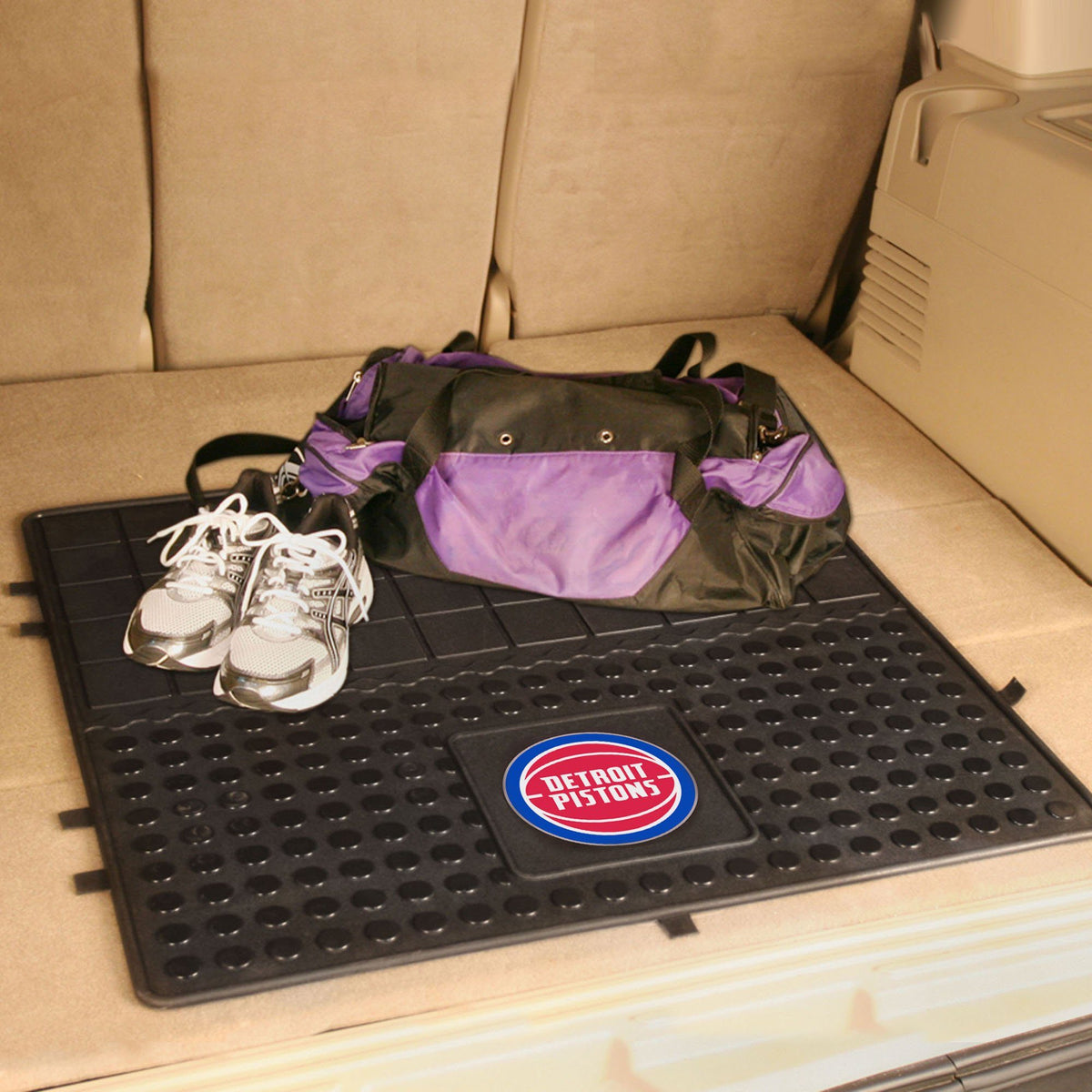 NBA - Heavy Duty Vinyl Cargo Mat NBA Mats, Trunk Mats, Heavy Duty Vinyl Cargo Mat, NBA, Auto Fan Mats Detroit Pistons