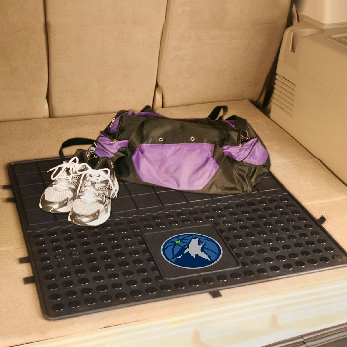 NBA - Heavy Duty Vinyl Cargo Mat NBA Mats, Trunk Mats, Heavy Duty Vinyl Cargo Mat, NBA, Auto Fan Mats Minnesota Timberwolves