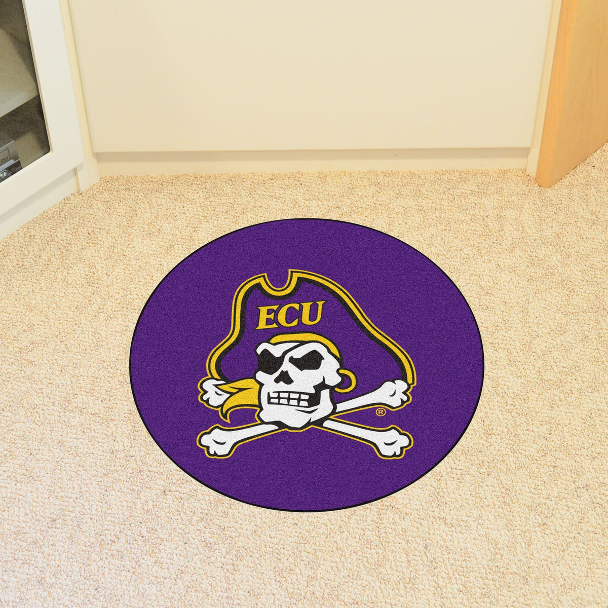 Collegiate - Round Mat Collegiate Mats, Round Mats, Round Mat, Collegiate, Home Fan Mats East Carolina