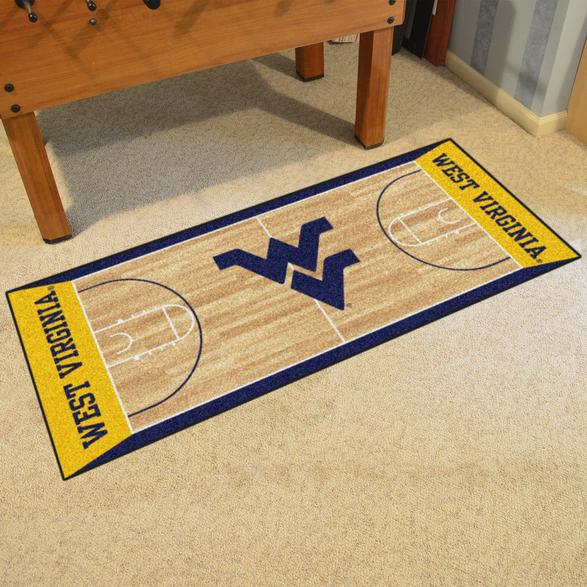 Collegiate - NCAA Basketball Runner Collegiate Mats, Rectangular Mats, NCAA Basketball Runner, Collegiate, Home Fan Mats West Virginia