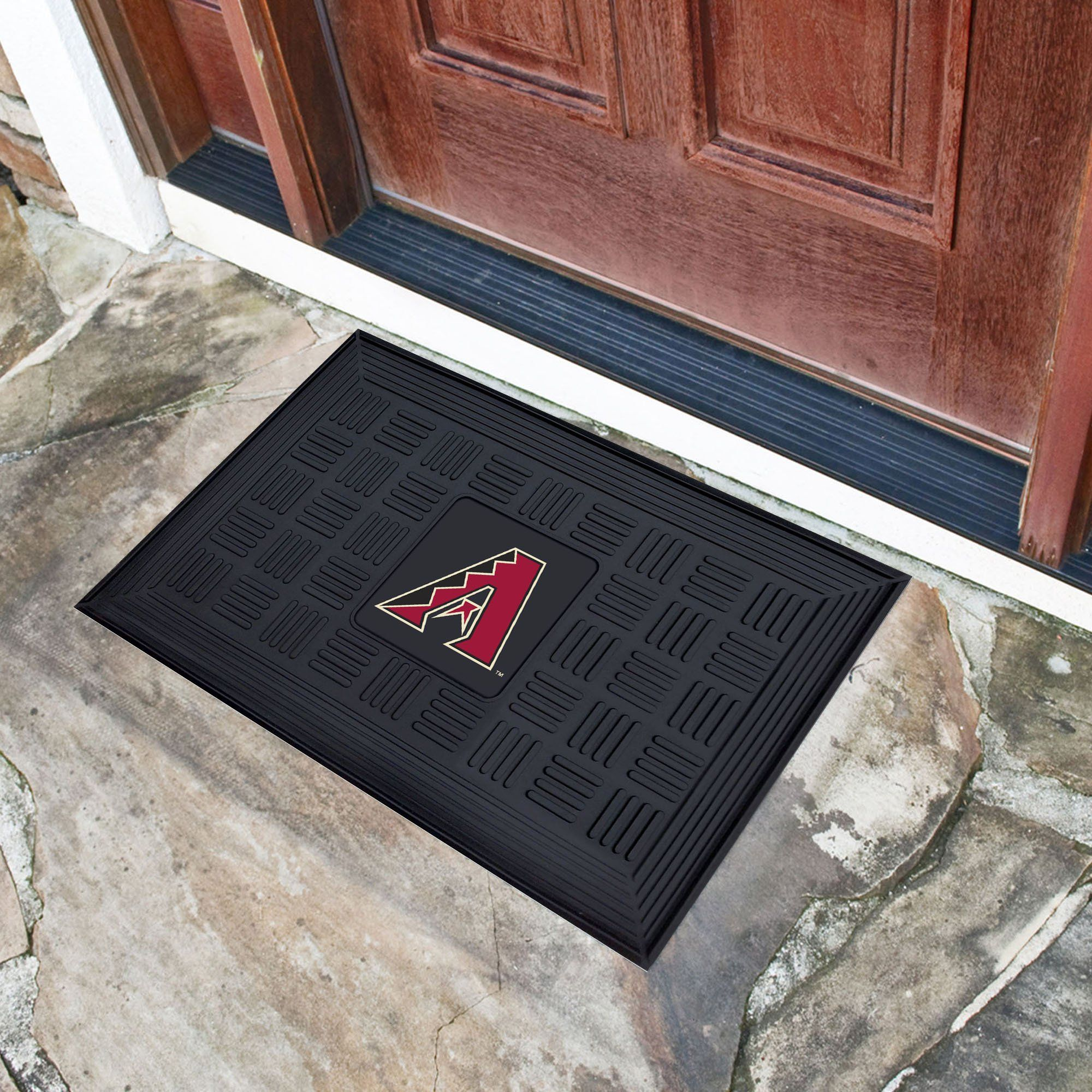 MLB - Medallion Door Mat MLB Mats, Medallion Door Mat, MLB, Home Fan Mats Arizona Diamondbacks