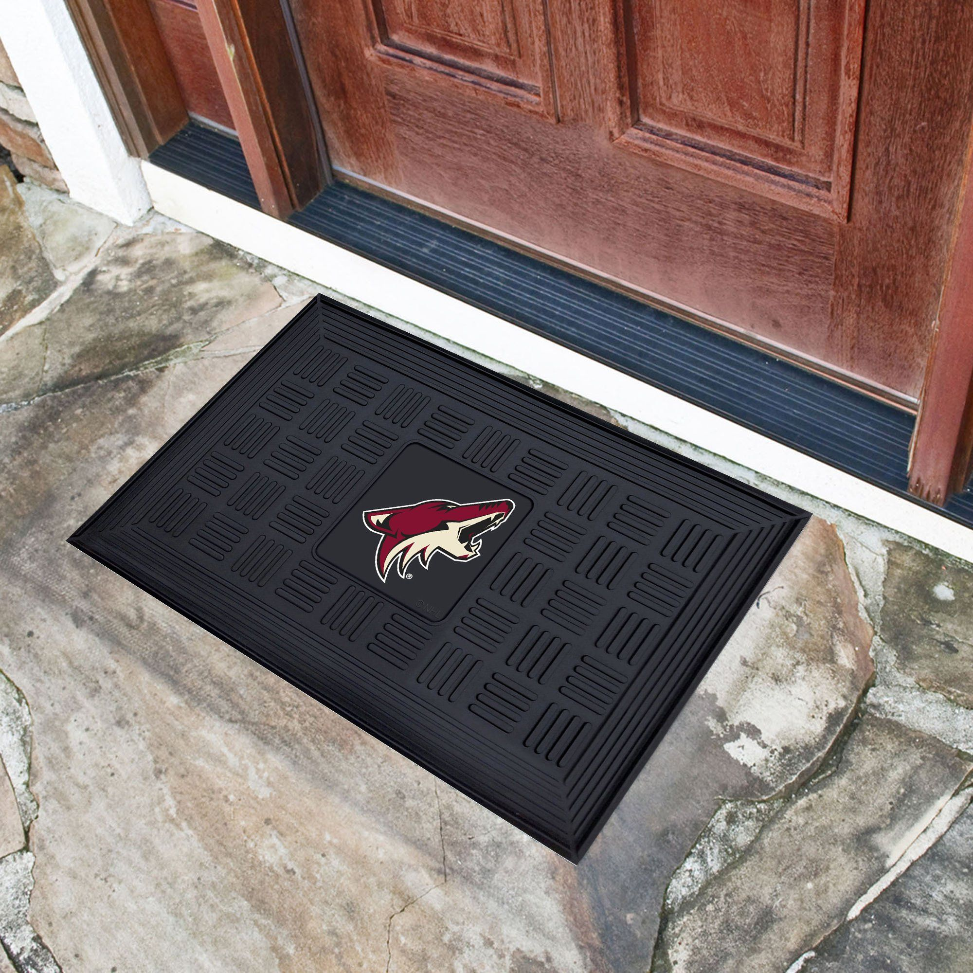 NHL - Medallion Door Mat NHL Mats, Medallion Door Mat, NHL, Home Fan Mats Anaheim Ducks