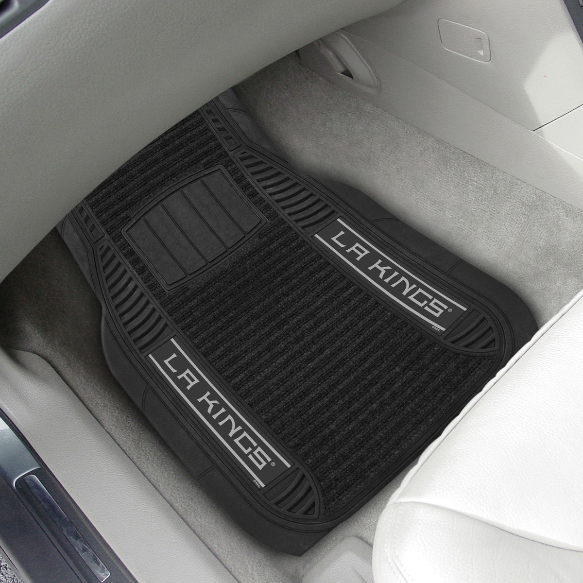 NHL - Deluxe Car Mat, 2-Piece Set NHL Mats, Front Car Mats, 2-pc Deluxe Car Mat Set, NHL, Auto Fan Mats Los Angeles Kings