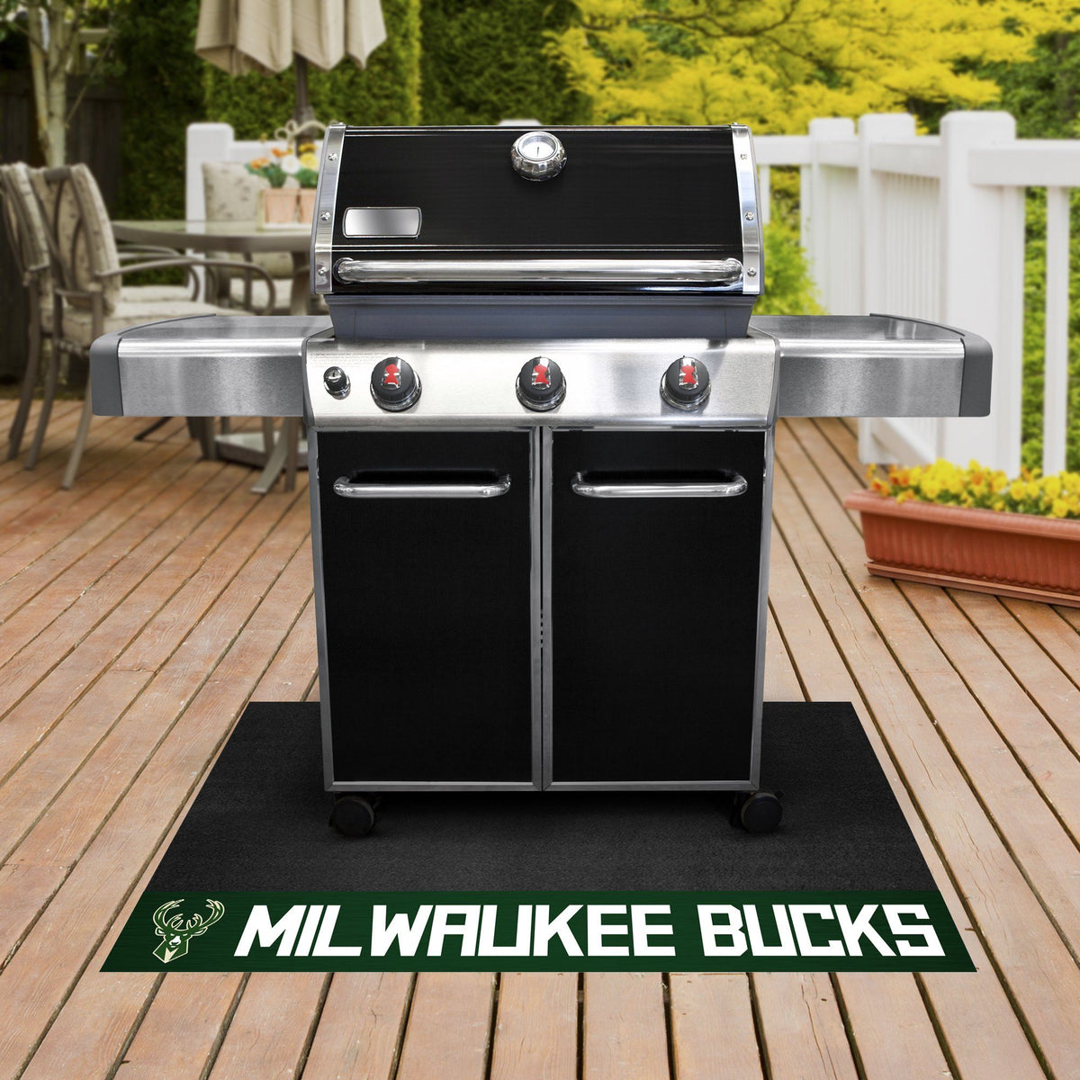 NBA - Grill Mat NBA Mats, Grill Mat, NBA, Home Fan Mats Milwaukee Bucks
