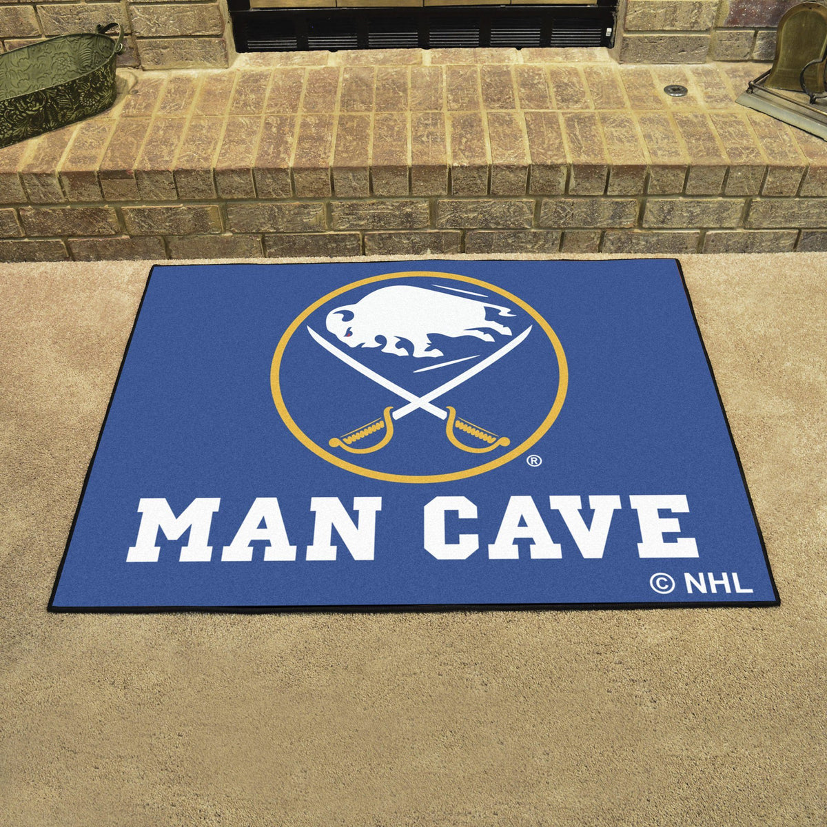 NHL - Man Cave All-Star NHL Mats, Rectangular Mats, Man Cave All-Star Mat, NHL, Home Fan Mats Buffalo Sabres