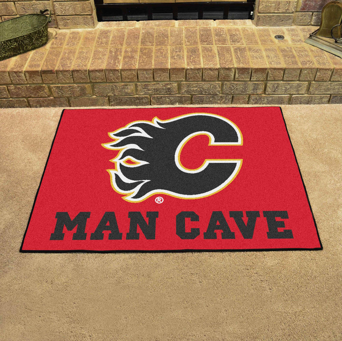 NHL - Man Cave All-Star NHL Mats, Rectangular Mats, Man Cave All-Star Mat, NHL, Home Fan Mats Calgary Flames
