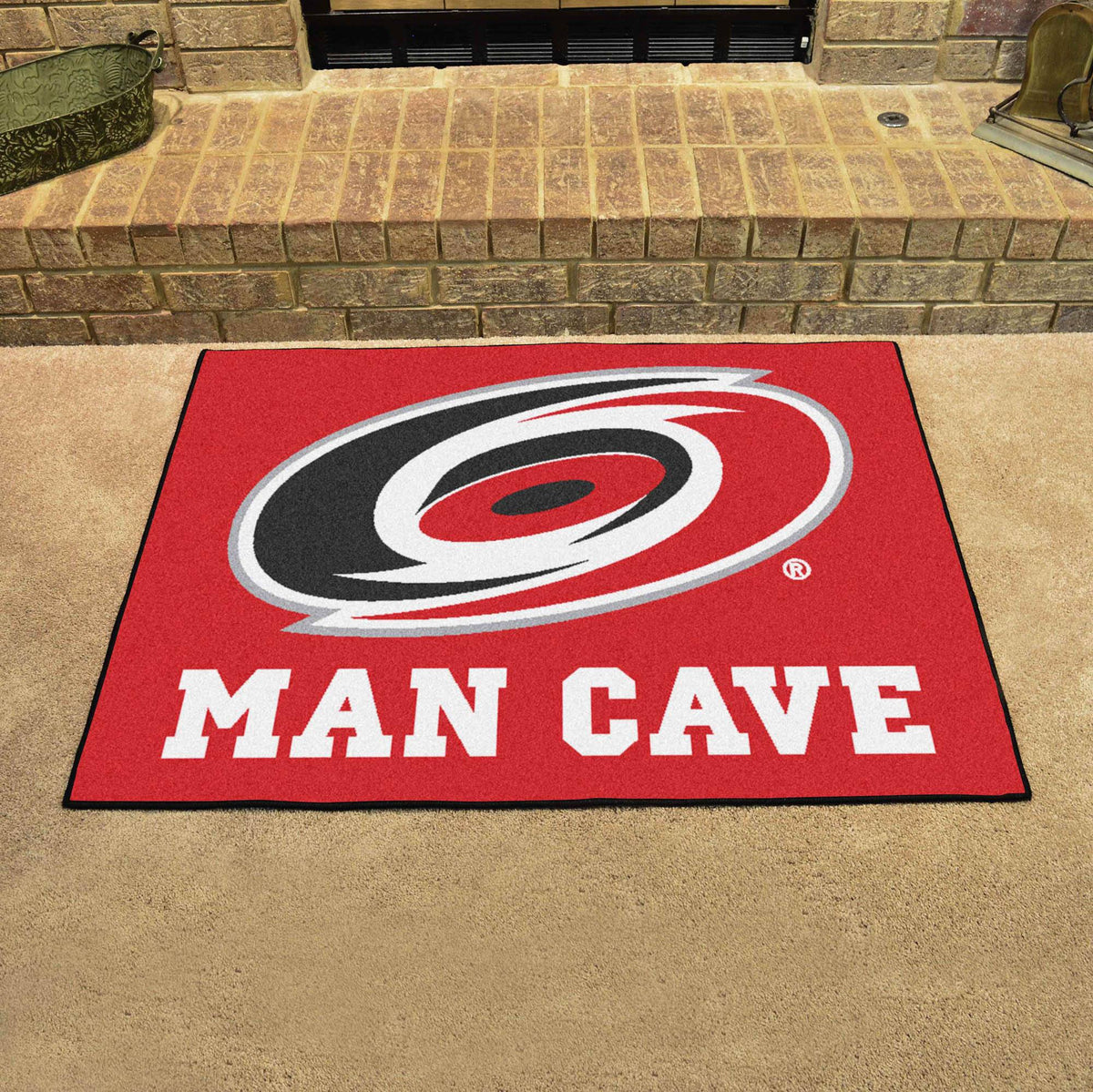 NHL - Man Cave All-Star NHL Mats, Rectangular Mats, Man Cave All-Star Mat, NHL, Home Fan Mats Carolina Hurricanes