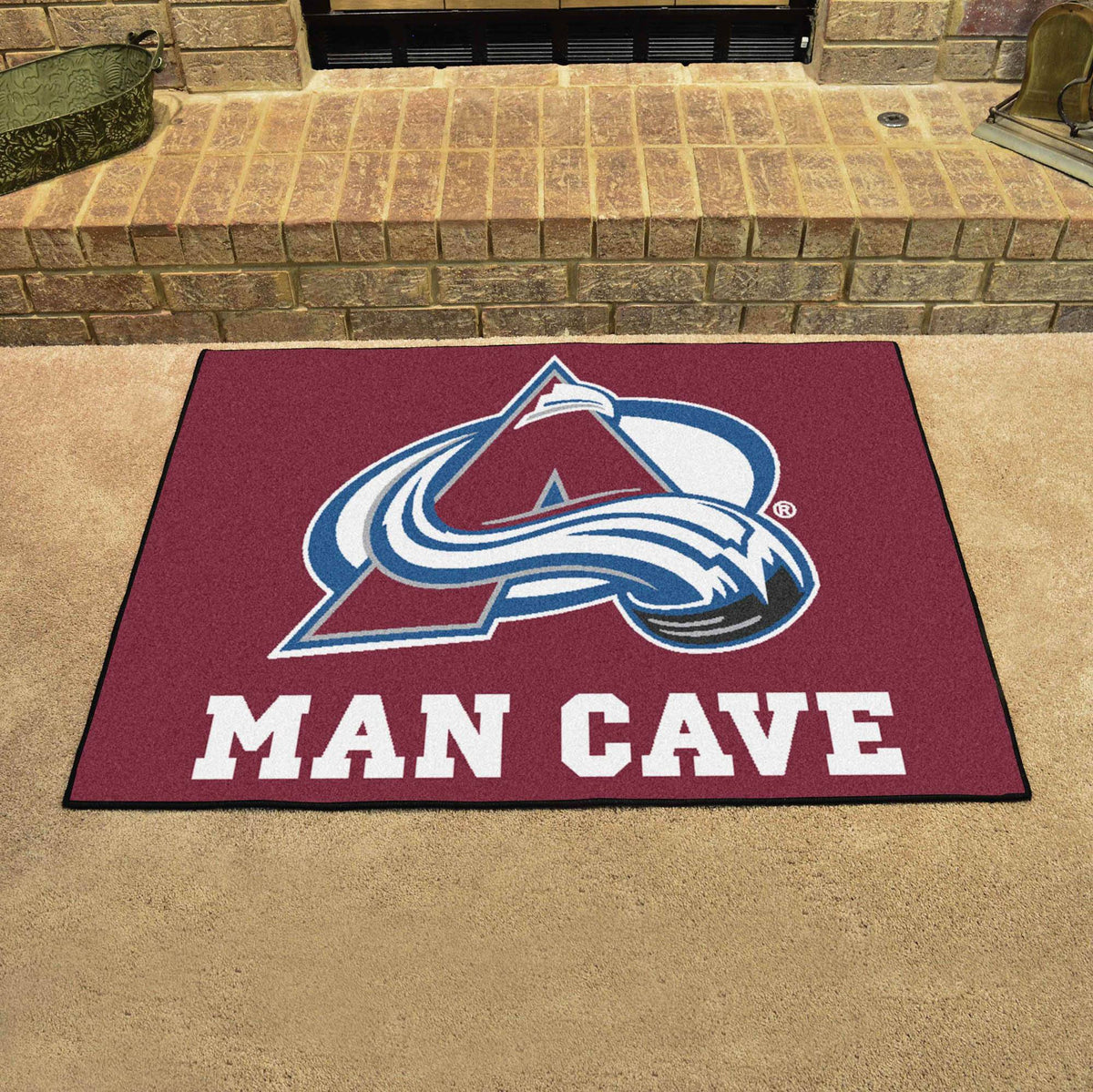 NHL - Man Cave All-Star NHL Mats, Rectangular Mats, Man Cave All-Star Mat, NHL, Home Fan Mats Colorado Avalanche