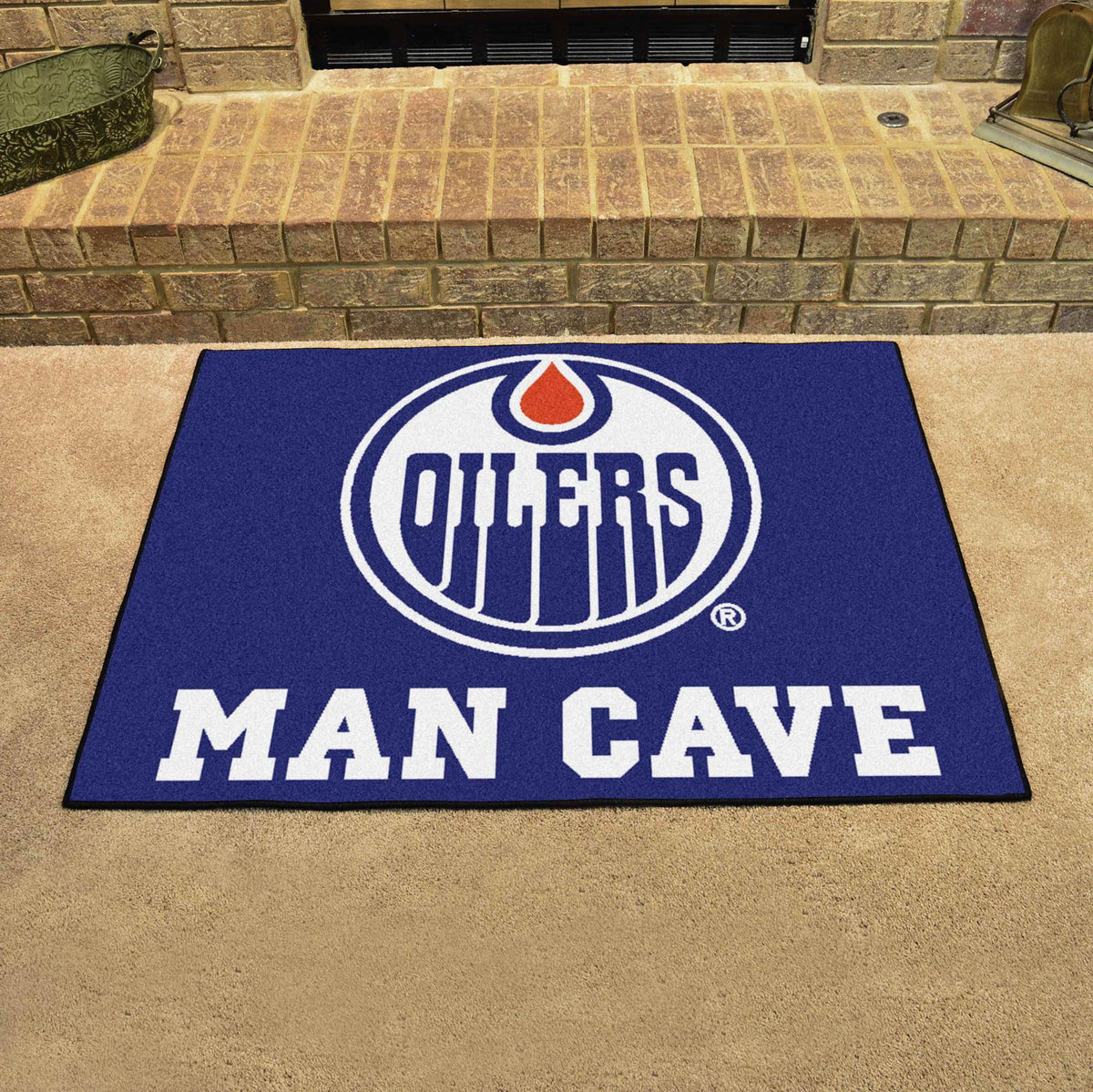 NHL - Man Cave All-Star NHL Mats, Rectangular Mats, Man Cave All-Star Mat, NHL, Home Fan Mats Edmonton Oilers