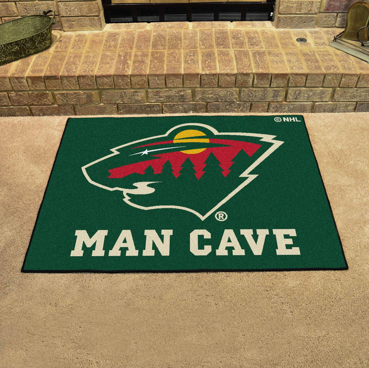 NHL - Man Cave All-Star NHL Mats, Rectangular Mats, Man Cave All-Star Mat, NHL, Home Fan Mats Minnesota Wild