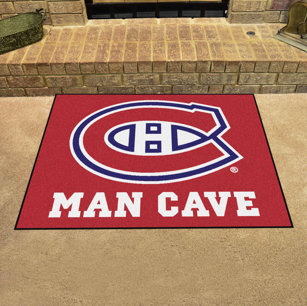 NHL - Man Cave All-Star NHL Mats, Rectangular Mats, Man Cave All-Star Mat, NHL, Home Fan Mats Montreal Canadiens
