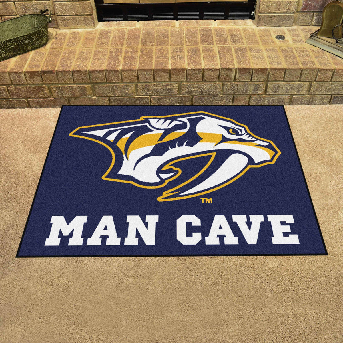 NHL - Man Cave All-Star NHL Mats, Rectangular Mats, Man Cave All-Star Mat, NHL, Home Fan Mats Nashville Predators