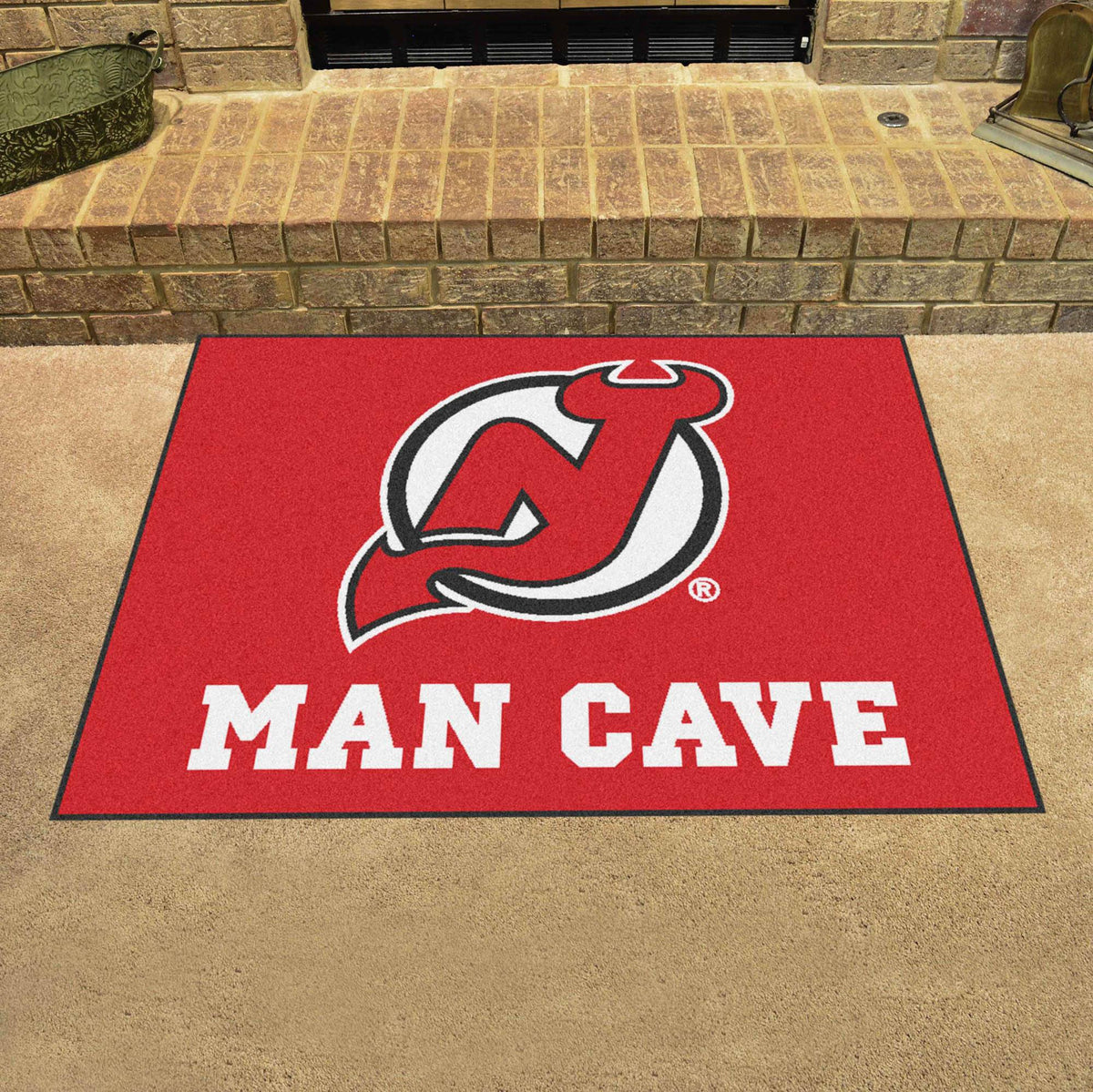 NHL - Man Cave All-Star NHL Mats, Rectangular Mats, Man Cave All-Star Mat, NHL, Home Fan Mats New Jersey Devils