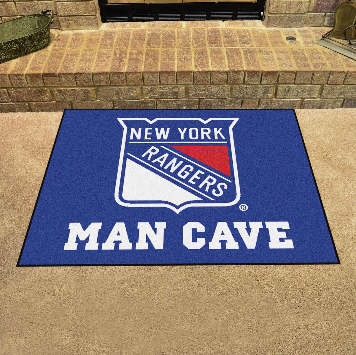 NHL - Man Cave All-Star NHL Mats, Rectangular Mats, Man Cave All-Star Mat, NHL, Home Fan Mats New York Rangers