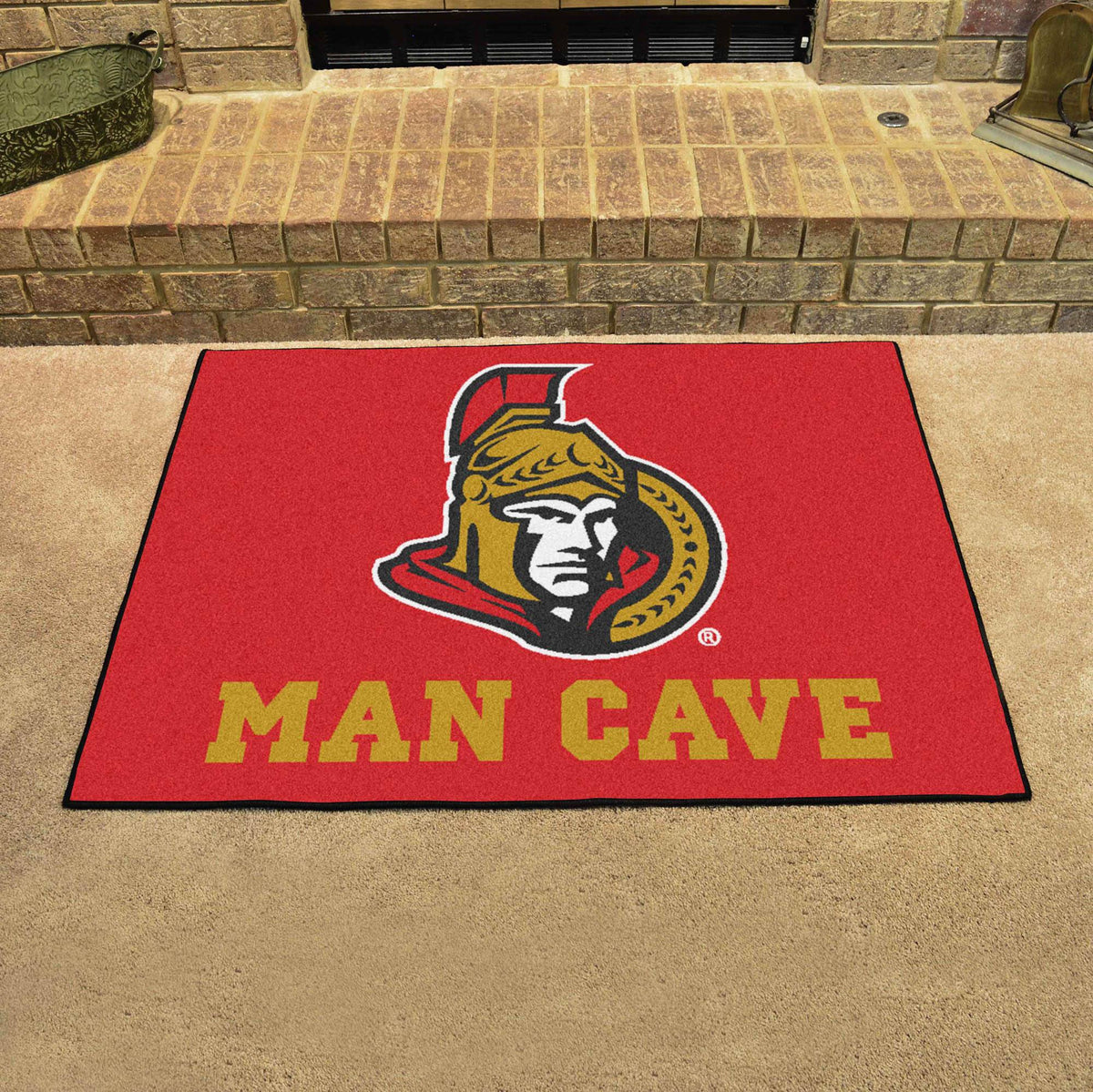 NHL - Man Cave All-Star NHL Mats, Rectangular Mats, Man Cave All-Star Mat, NHL, Home Fan Mats Ottawa Senators