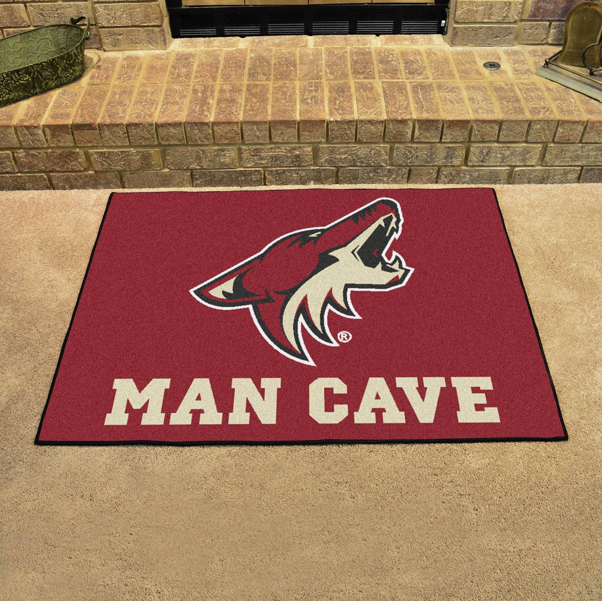 NHL - Man Cave All-Star NHL Mats, Rectangular Mats, Man Cave All-Star Mat, NHL, Home Fan Mats Arizona Coyotes