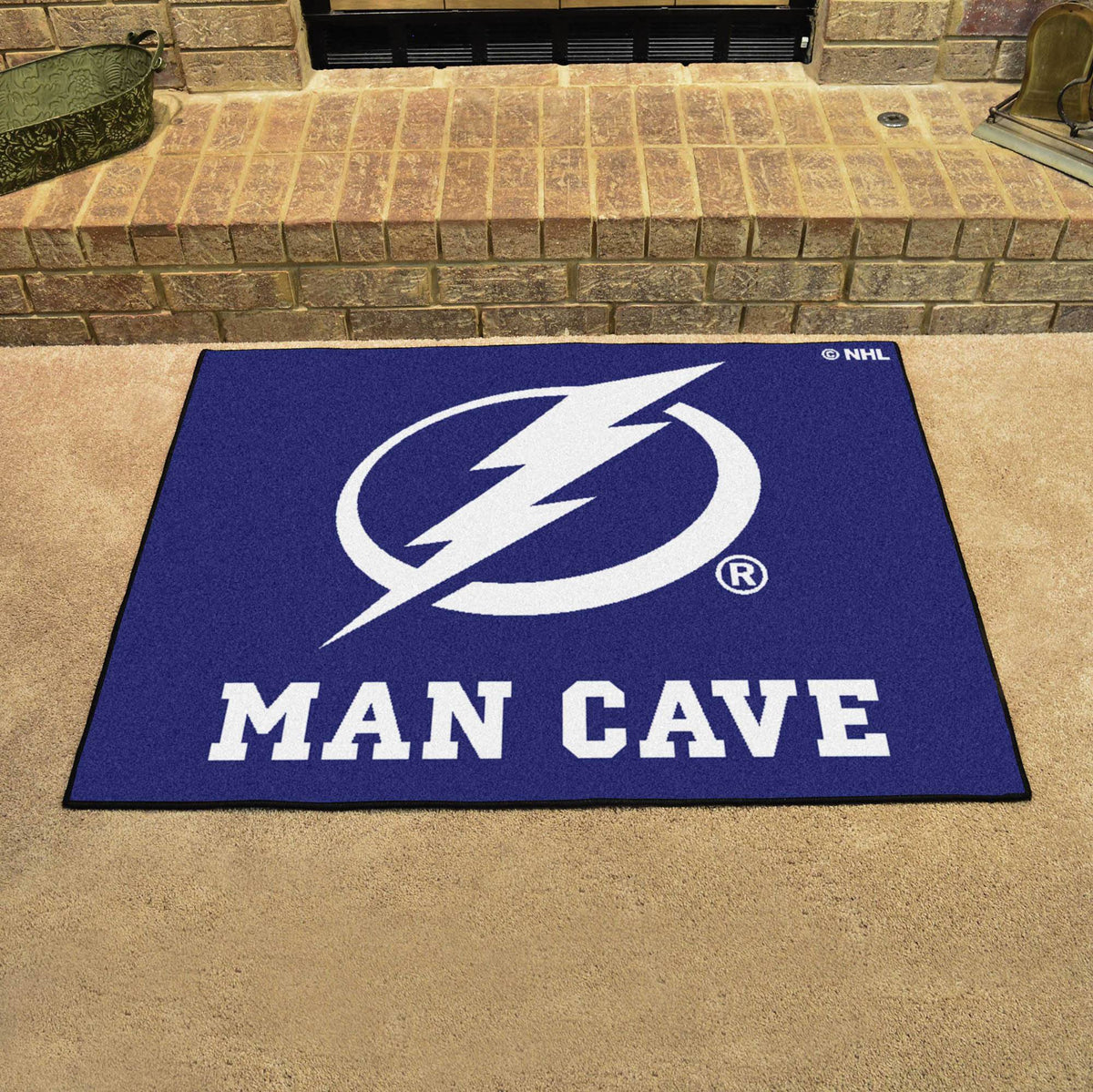 NHL - Man Cave All-Star NHL Mats, Rectangular Mats, Man Cave All-Star Mat, NHL, Home Fan Mats Tampa Bay Lightning