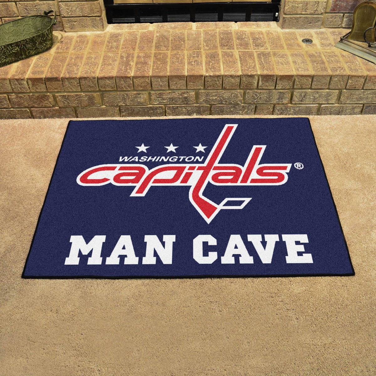 NHL - Man Cave All-Star NHL Mats, Rectangular Mats, Man Cave All-Star Mat, NHL, Home Fan Mats Washington Capitals