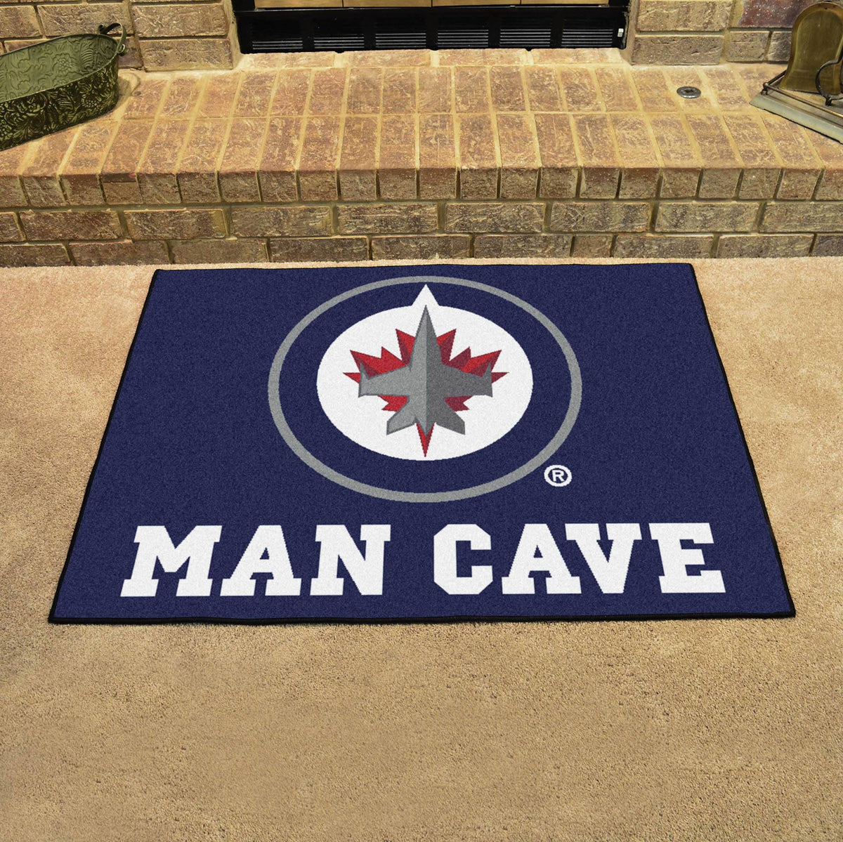 NHL - Man Cave All-Star NHL Mats, Rectangular Mats, Man Cave All-Star Mat, NHL, Home Fan Mats Winnipeg Jets