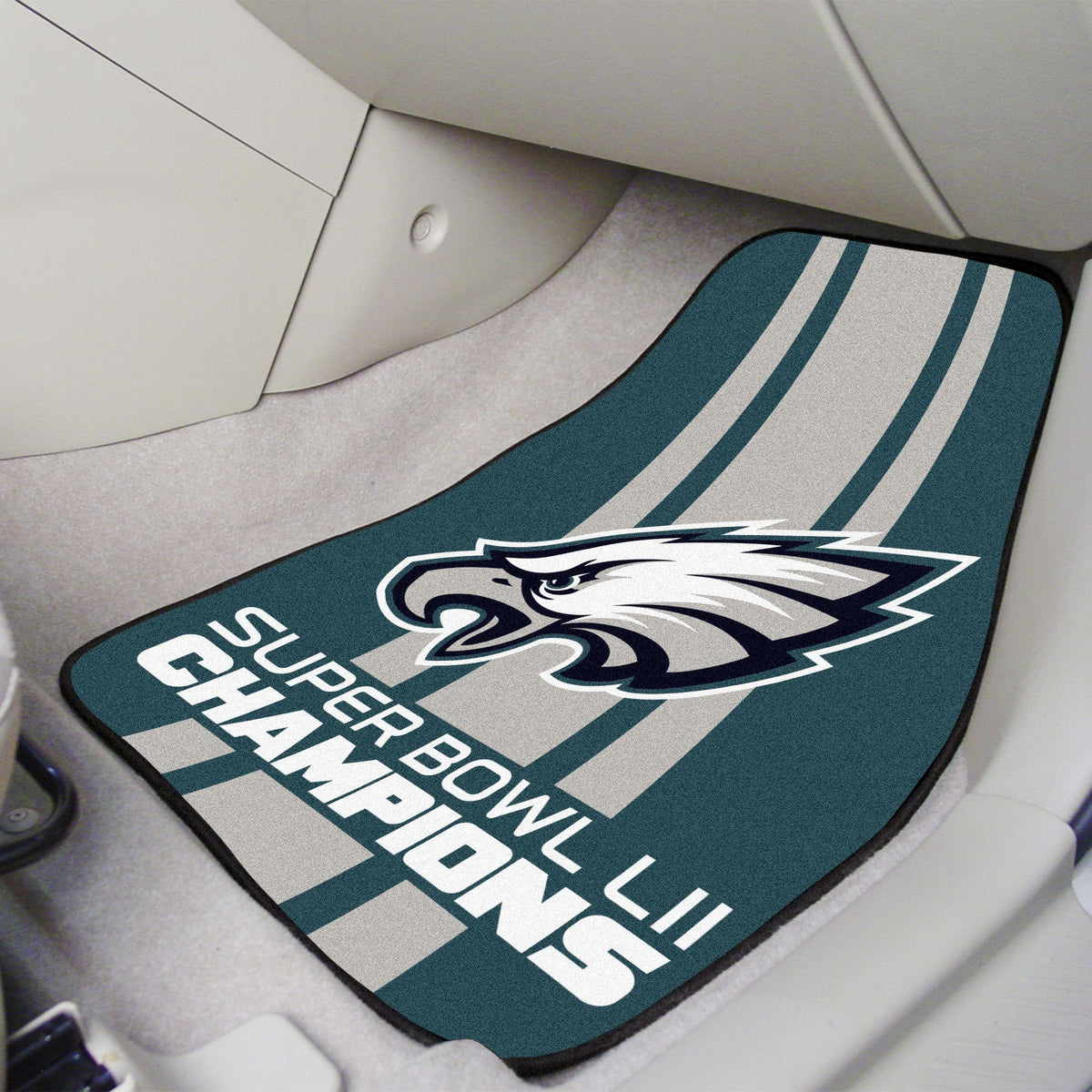 "NFL - 2-pc Carpet Car Mat Set, 17"" x 27"" NFL Mats, Front Car Mats, 2-pc Carpet Car Mat Set, NFL, Auto Fan Mats Philadelphia Eagles 2"