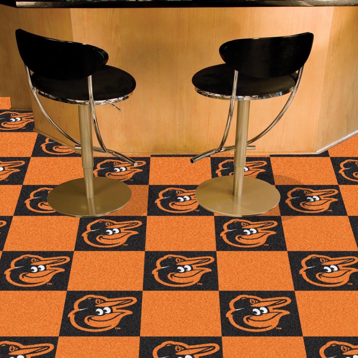 MLB - Team Carpet Tiles MLB Mats, Carpet Tile Flooring, Team Carpet Tiles, MLB, Home Fan Mats Baltimore Orioles 2