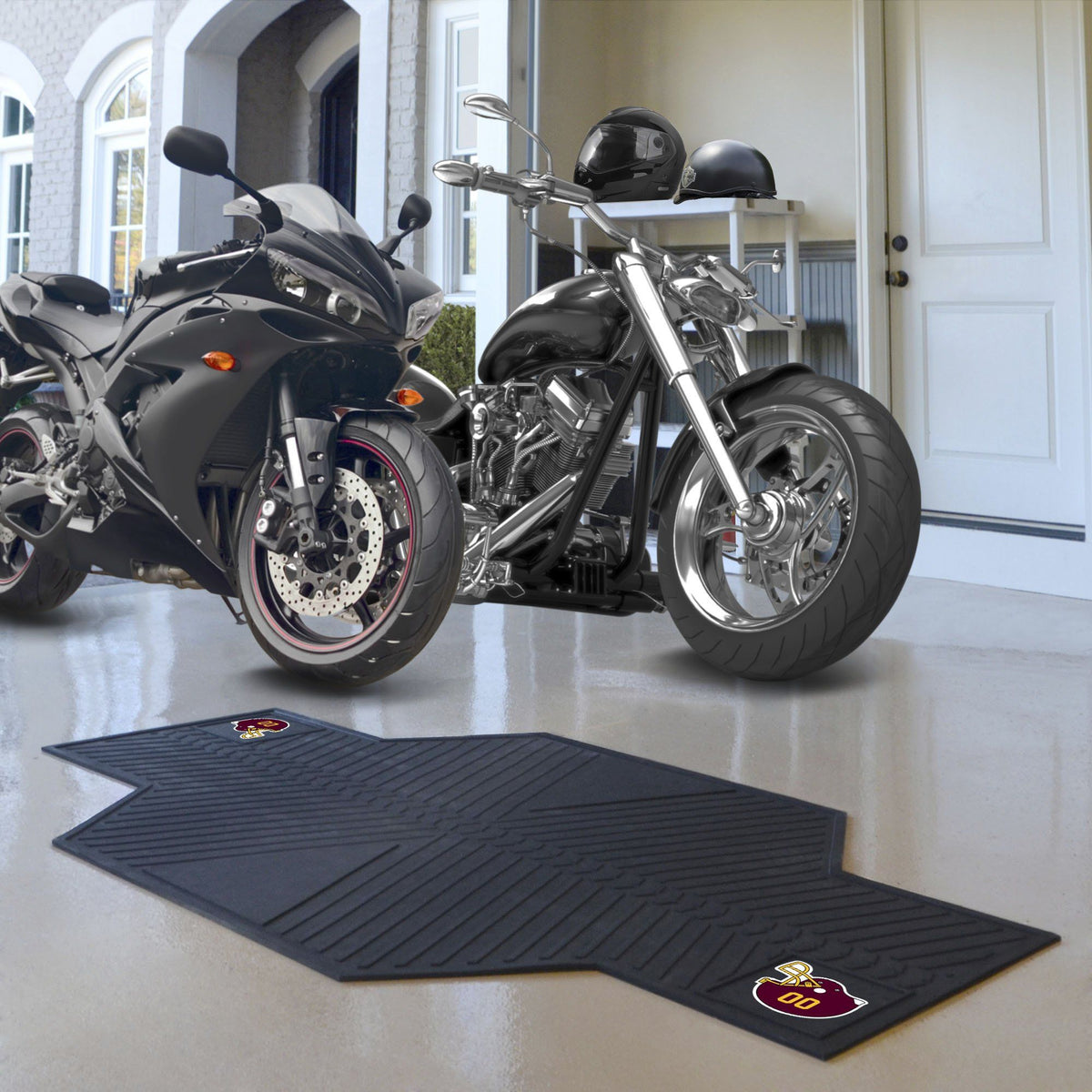 "NFL - Motorcycle Mat, 82.5"" x 42"" NFL Mats, Motorcycle Accessory, Motorcycle Mat, NFL, Auto Fan Mats Washington Redskins"