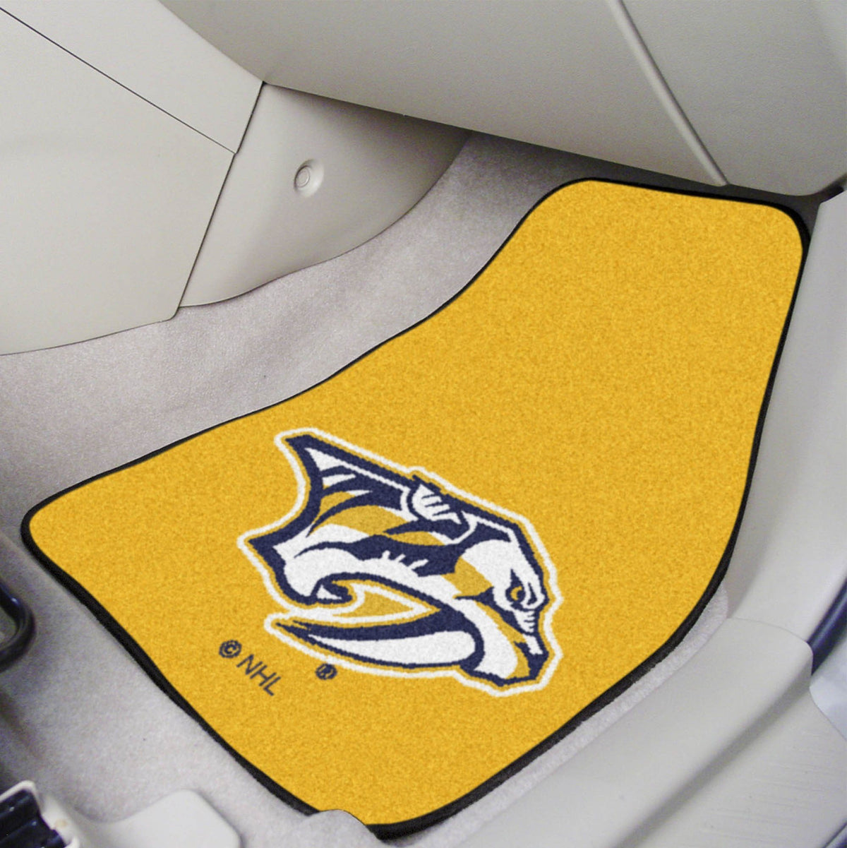 NHL - Carpet Car Mat, 2-Piece Set NHL Mats, Front Car Mats, 2-pc Carpet Car Mat Set, NHL, Auto Fan Mats Nashville Predators 2