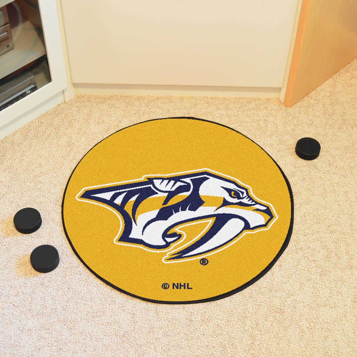 NHL Hockey Puck Mat NHL Hockey Puck Mat Fan Mats Nashville Predators 2