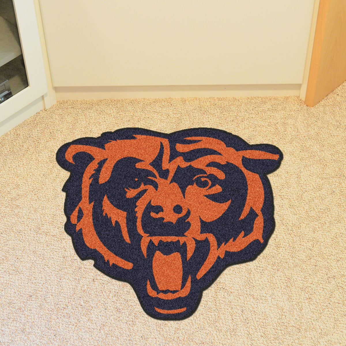 "NFL - Mascot Mat, 36"" x 34.8"" NFL Mats, Custom Shape Rugs, Mascot Mat, NFL, Home Fan Mats Chicago Bears"