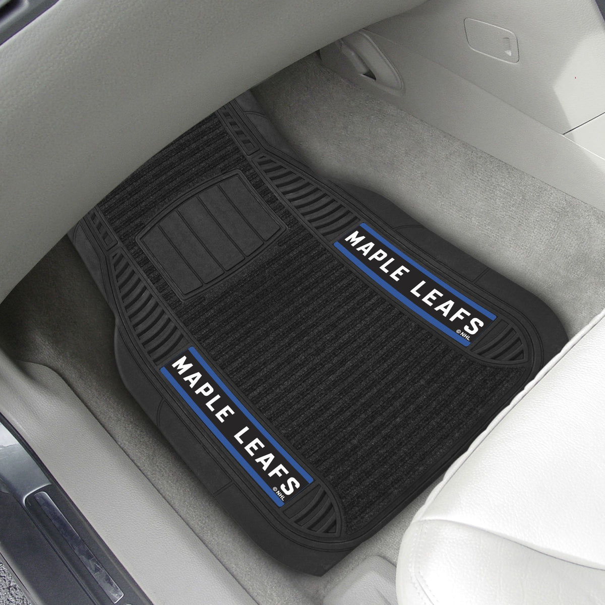 NHL - Deluxe Car Mat, 2-Piece Set NHL Mats, Front Car Mats, 2-pc Deluxe Car Mat Set, NHL, Auto Fan Mats Toronto Maple Leafs