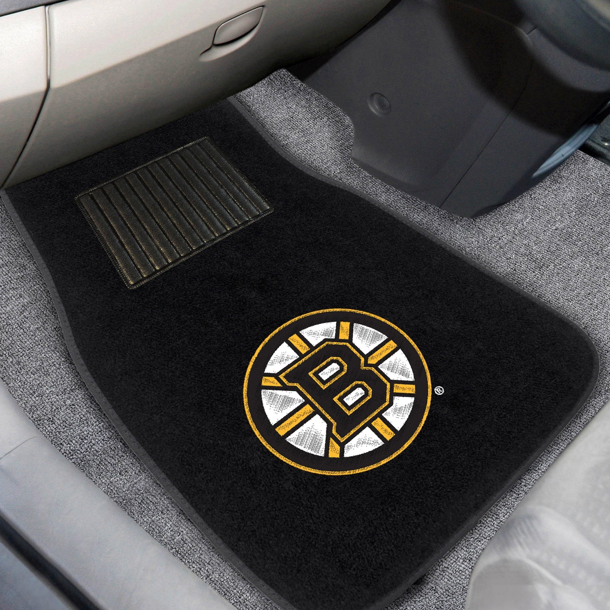 NHL - Embroidered Car Mat, 2-Piece Set NHL Mats, Front Car Mats, 2-pc Embroidered Car Mat Set, NHL, Auto Fan Mats Anaheim Ducks