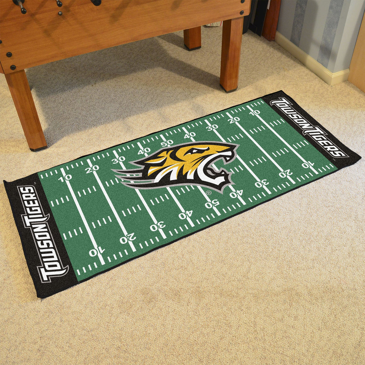 Collegiate - Football Field Runner Collegiate Mats, Rectangular Mats, Football Field Runner, Collegiate, Home Fan Mats Towson