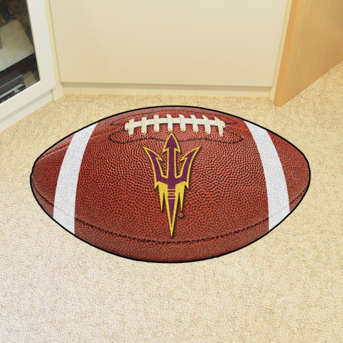 Collegiate - Football Mat: A - K Collegiate Mats, Rectangular Mats, Football Mat, Collegiate, Home Fan Mats Arizona State