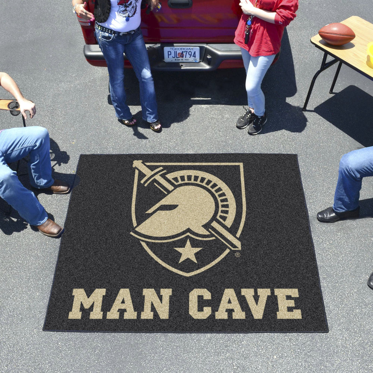 Collegiate - Man Cave Tailgater Collegiate Mats, Rectangular Mats, Man Cave Tailgater, Collegiate, Home Fan Mats Army West Point