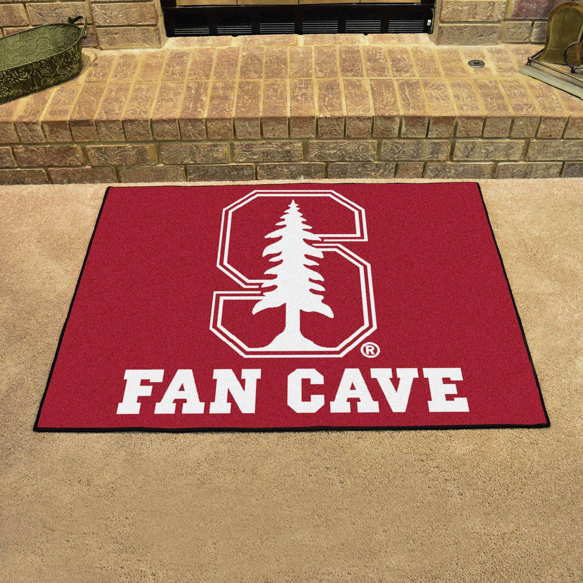 Collegiate - Fan Cave All-Star Mat Collegiate Mats, Rectangular Mats, All-Star Mat, Collegiate, Home Fan Mats Stanford