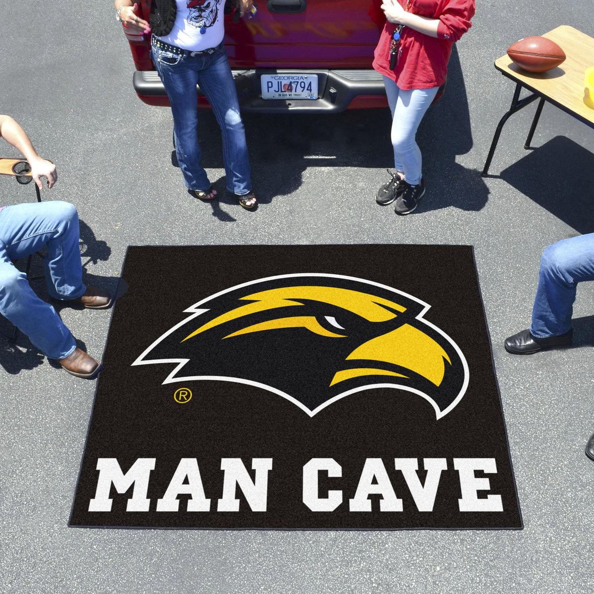 Collegiate - Man Cave Tailgater Collegiate Mats, Rectangular Mats, Man Cave Tailgater, Collegiate, Home Fan Mats Southern Miss