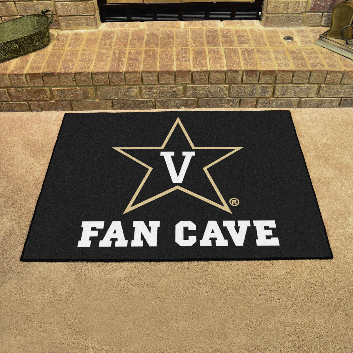 Collegiate - Fan Cave All-Star Mat Collegiate Mats, Rectangular Mats, All-Star Mat, Collegiate, Home Fan Mats Vanderbilt