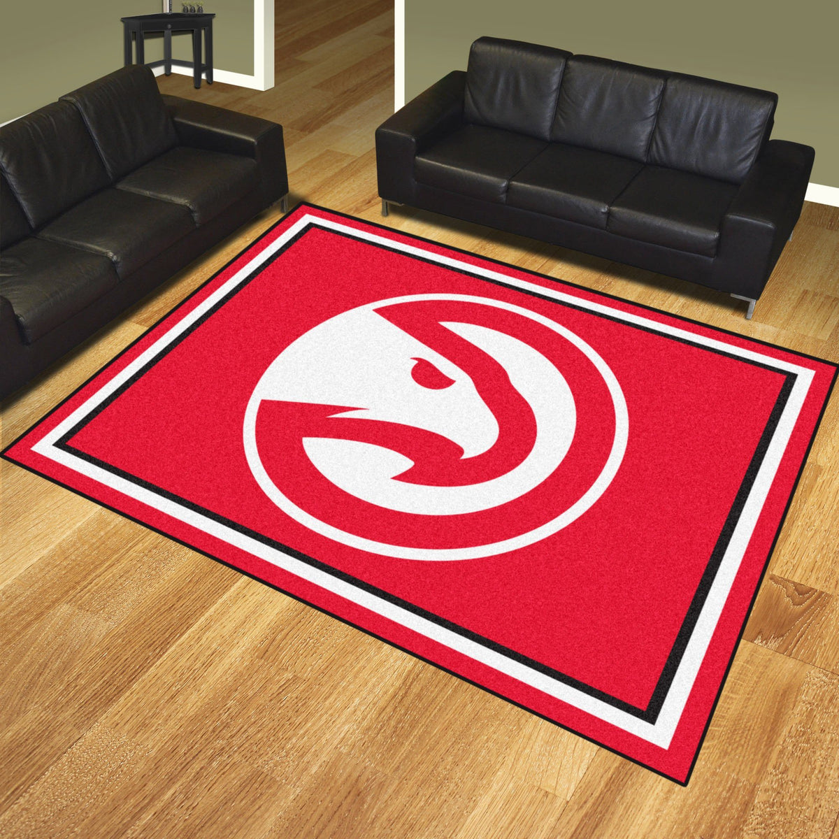 NBA - 8' x 10' Rug NBA Mats, Plush Rugs, 8x10 Rug, NBA, Home Fan Mats Atlanta Hawks