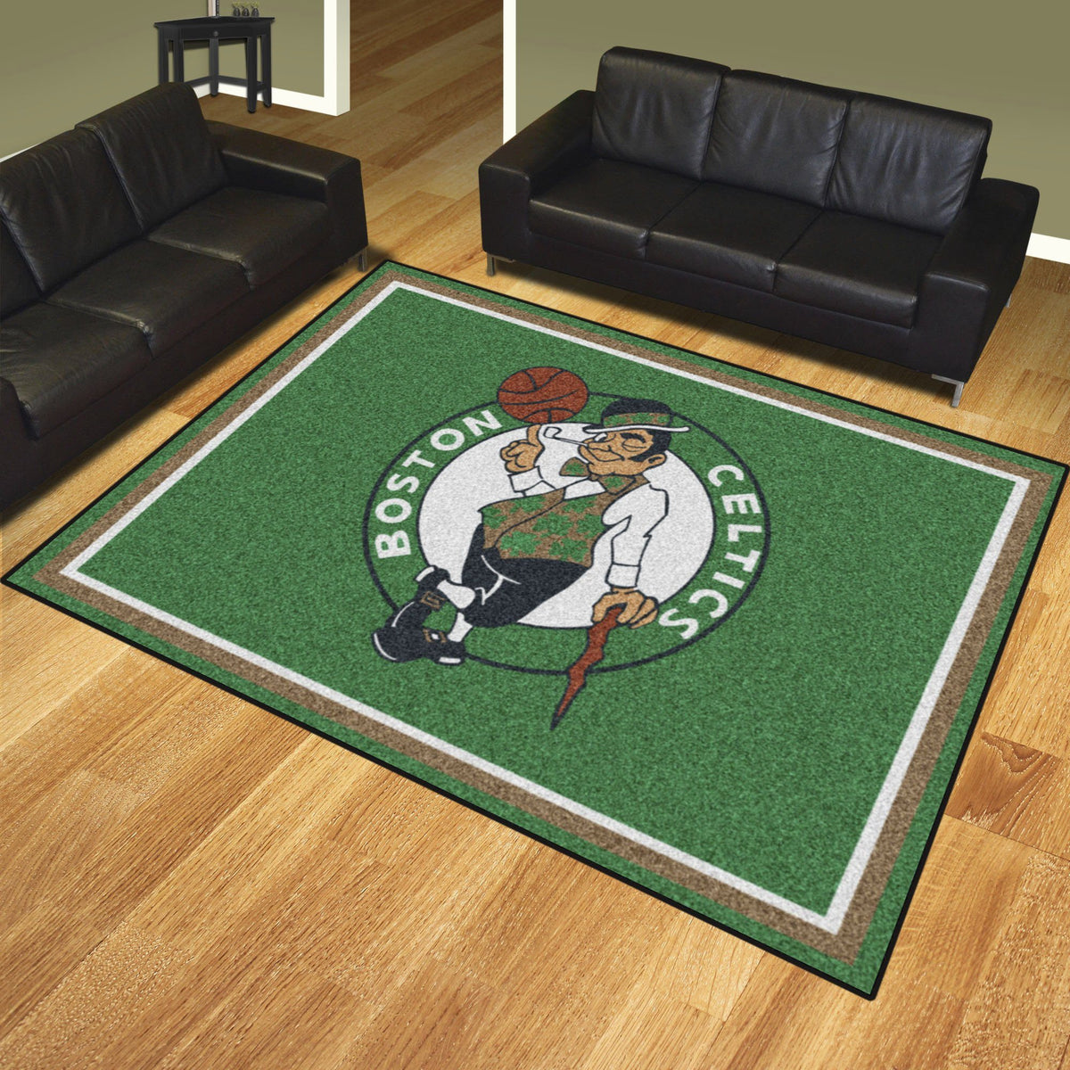 NBA - 8' x 10' Rug NBA Mats, Plush Rugs, 8x10 Rug, NBA, Home Fan Mats Boston Celtics