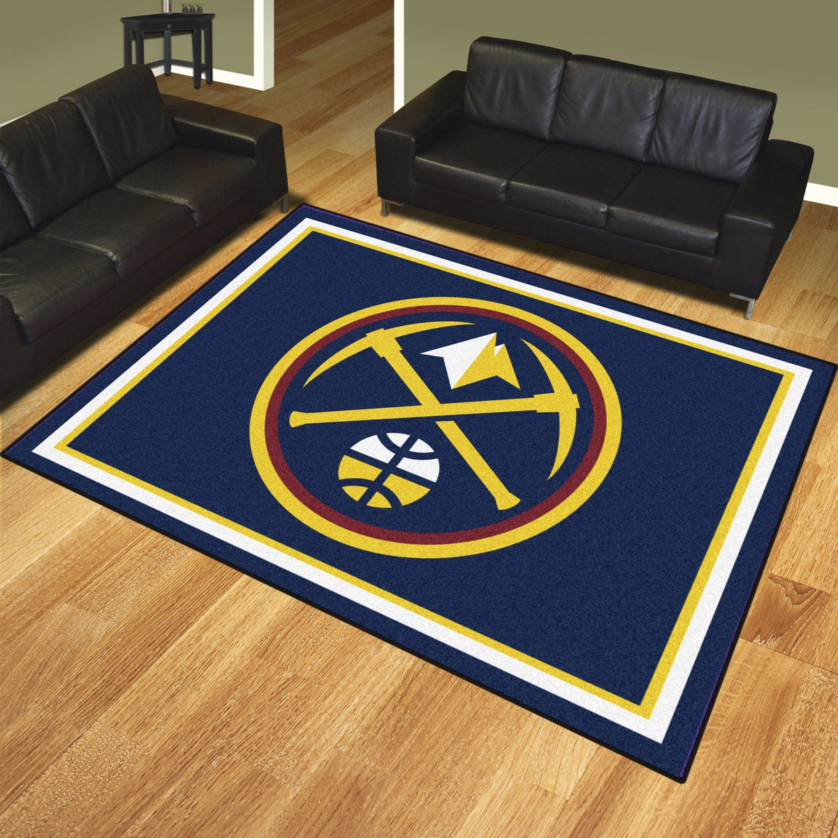 NBA - 8' x 10' Rug NBA Mats, Plush Rugs, 8x10 Rug, NBA, Home Fan Mats Denver Nuggets