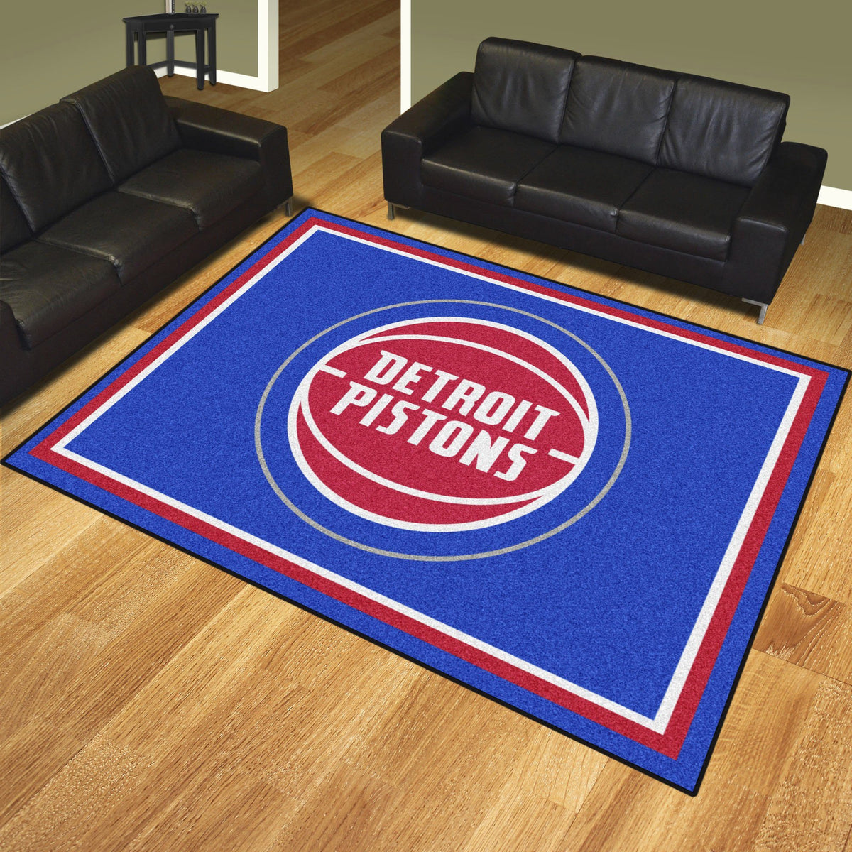 NBA - 8' x 10' Rug NBA Mats, Plush Rugs, 8x10 Rug, NBA, Home Fan Mats Detroit Pistons