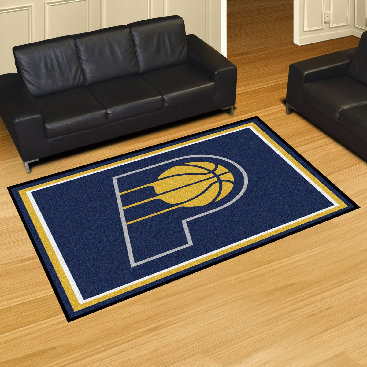 NBA - 8' x 10' Rug NBA Mats, Plush Rugs, 8x10 Rug, NBA, Home Fan Mats Indiana Pacers